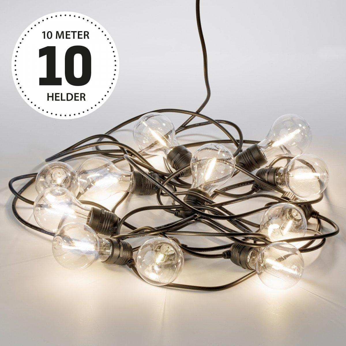 Party 10m Lichterkette klar Inkl. LEDs - 10 Meter / 15 Leuchtmittel