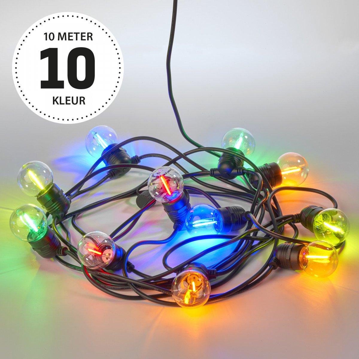 Party 10m Lichterkette Farbig inkl. Led 10 m / 15 Leds