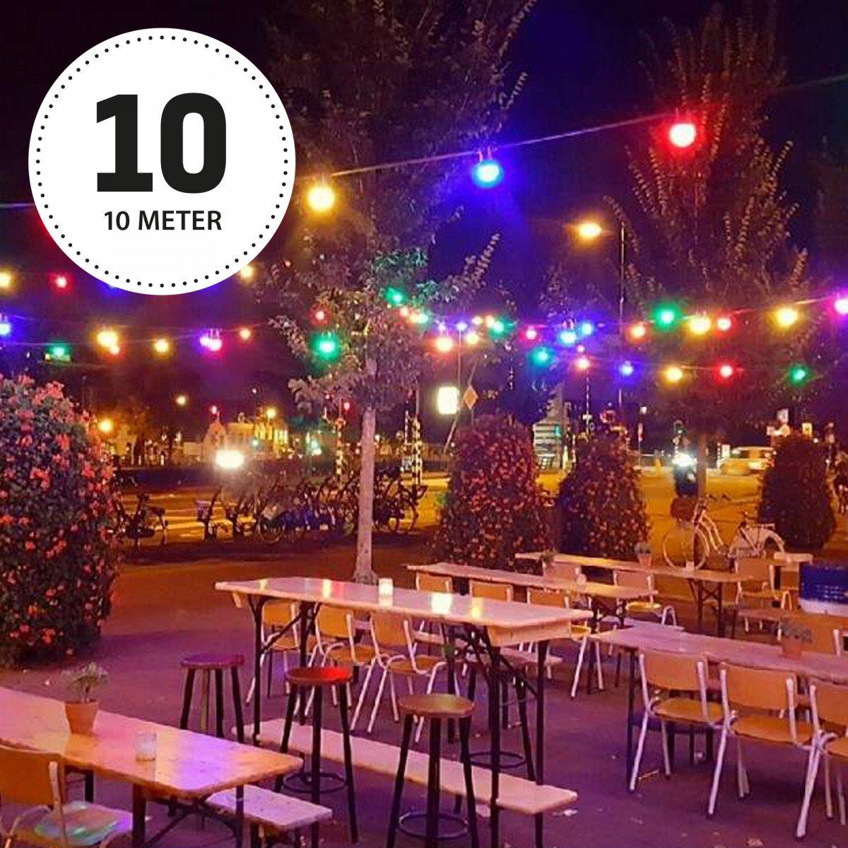 Patio 10 Innen- und Außen Lichterkette mit bunten LED's - 10 Meter