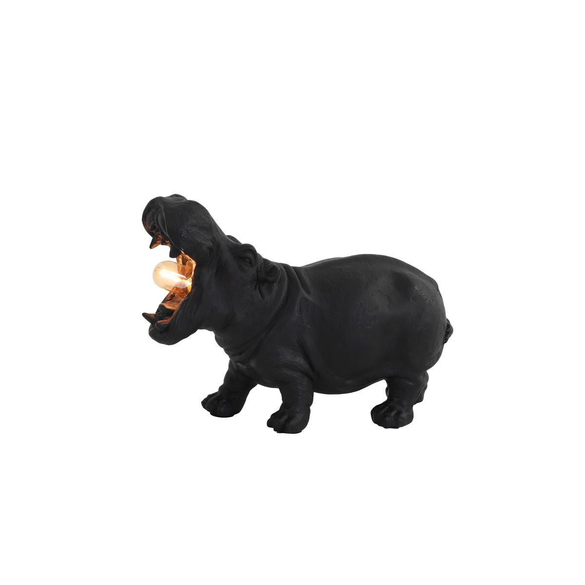 Tischleuchte Hippo schwarz