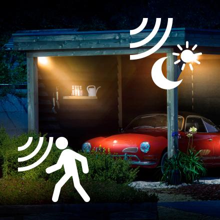 Leuchten mit Sensoren & Bewegungsmeldern