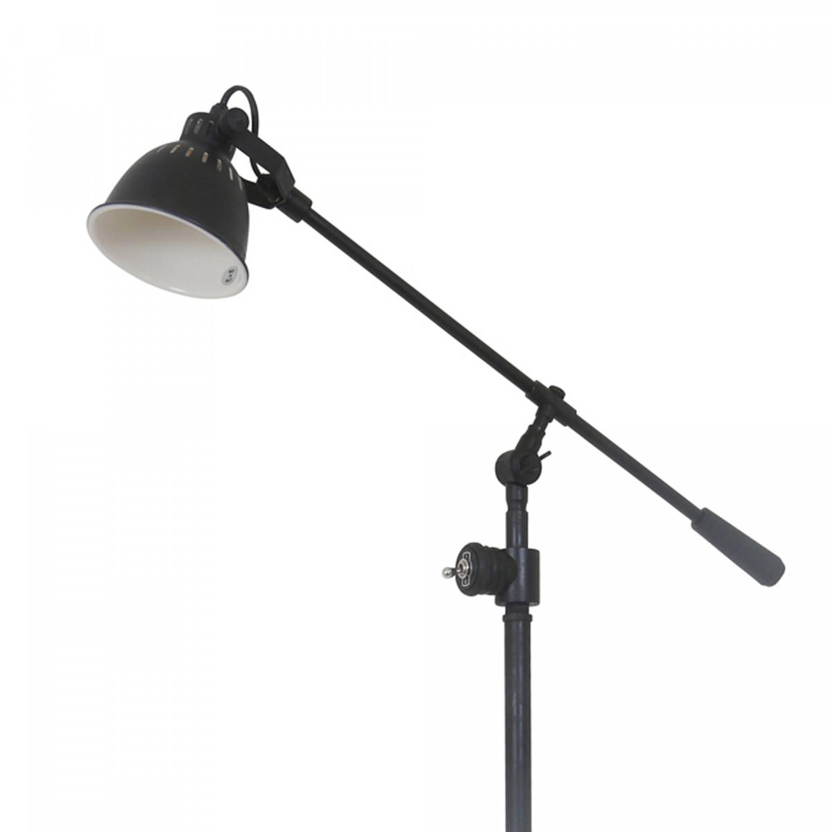 Industrial Stehlampe Archer Antik-Schwarz