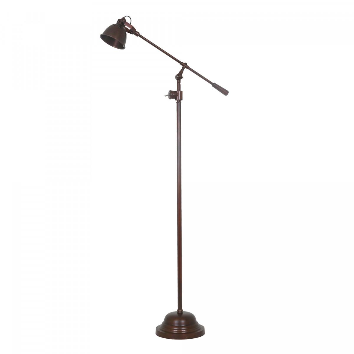 Industrial Stehlampe Archer Antik-Kupfer