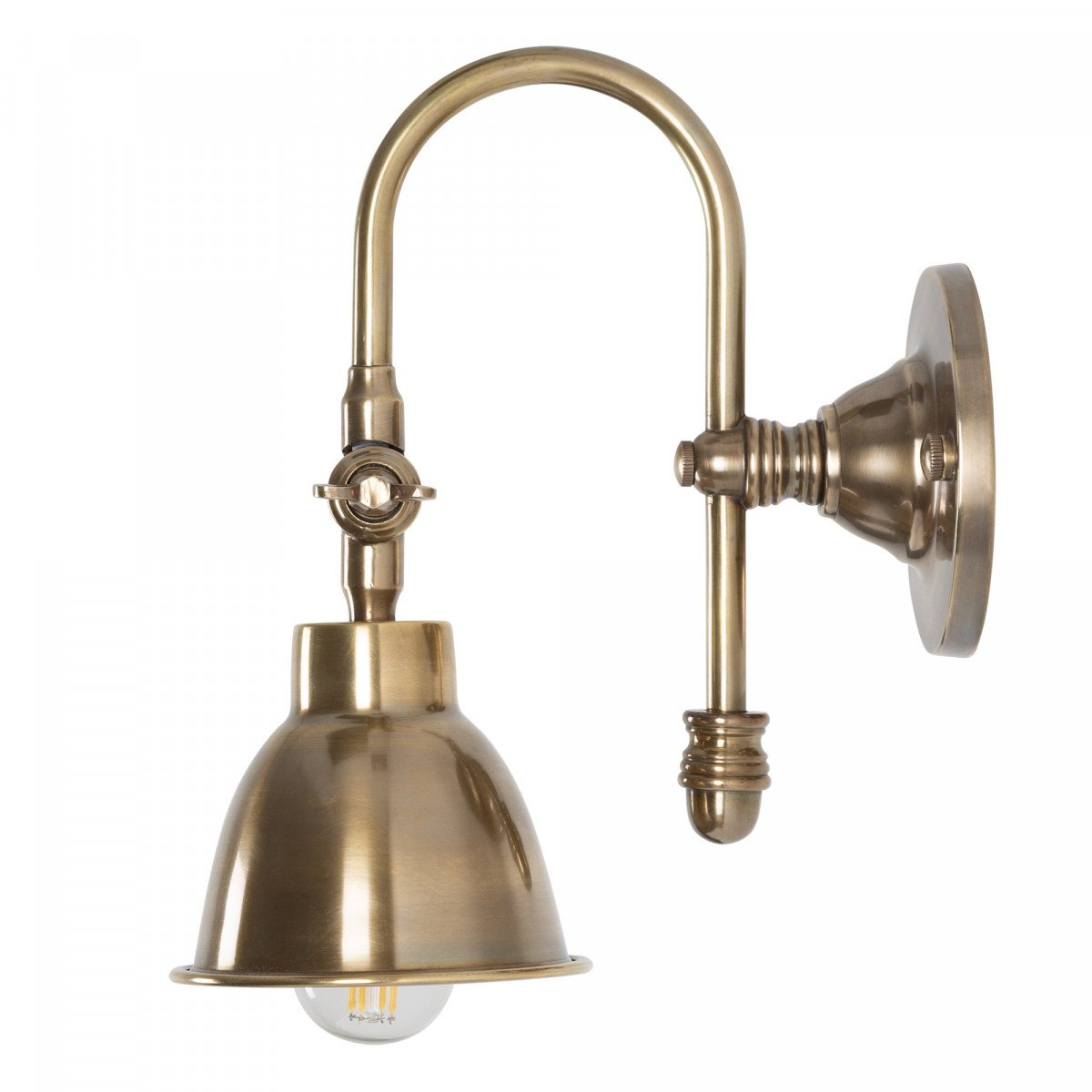 Wandlampe Pasco Antiek Bronze