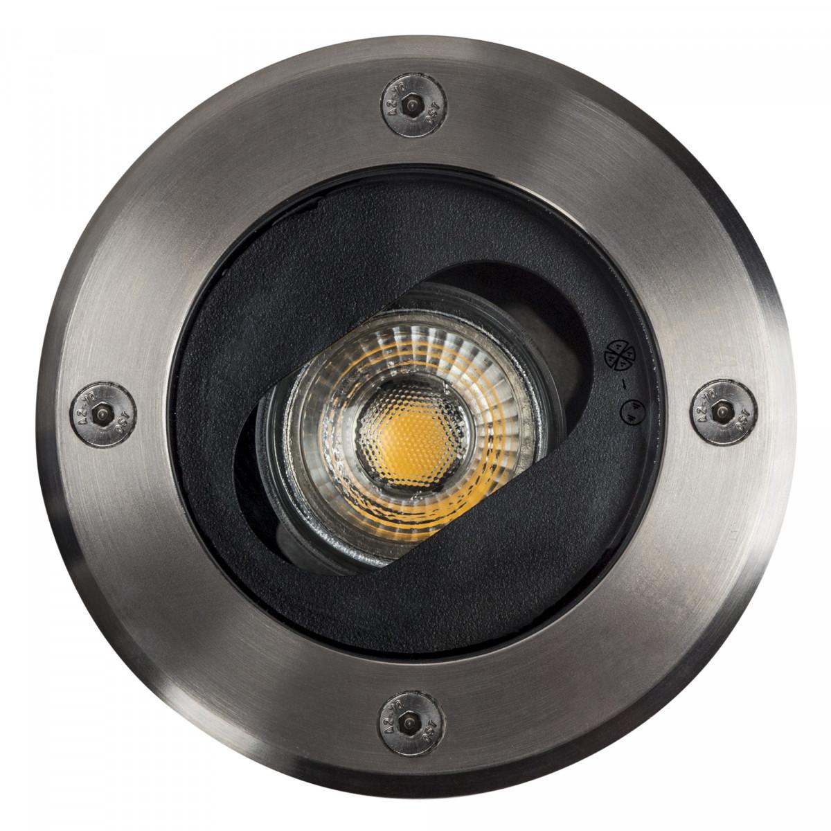 RVS Bodenspot Unit einschließlich GU10 LED