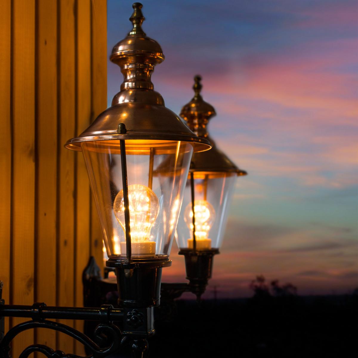Außenwandleuchte Edam mit LED inkl. Dämmerungssensor