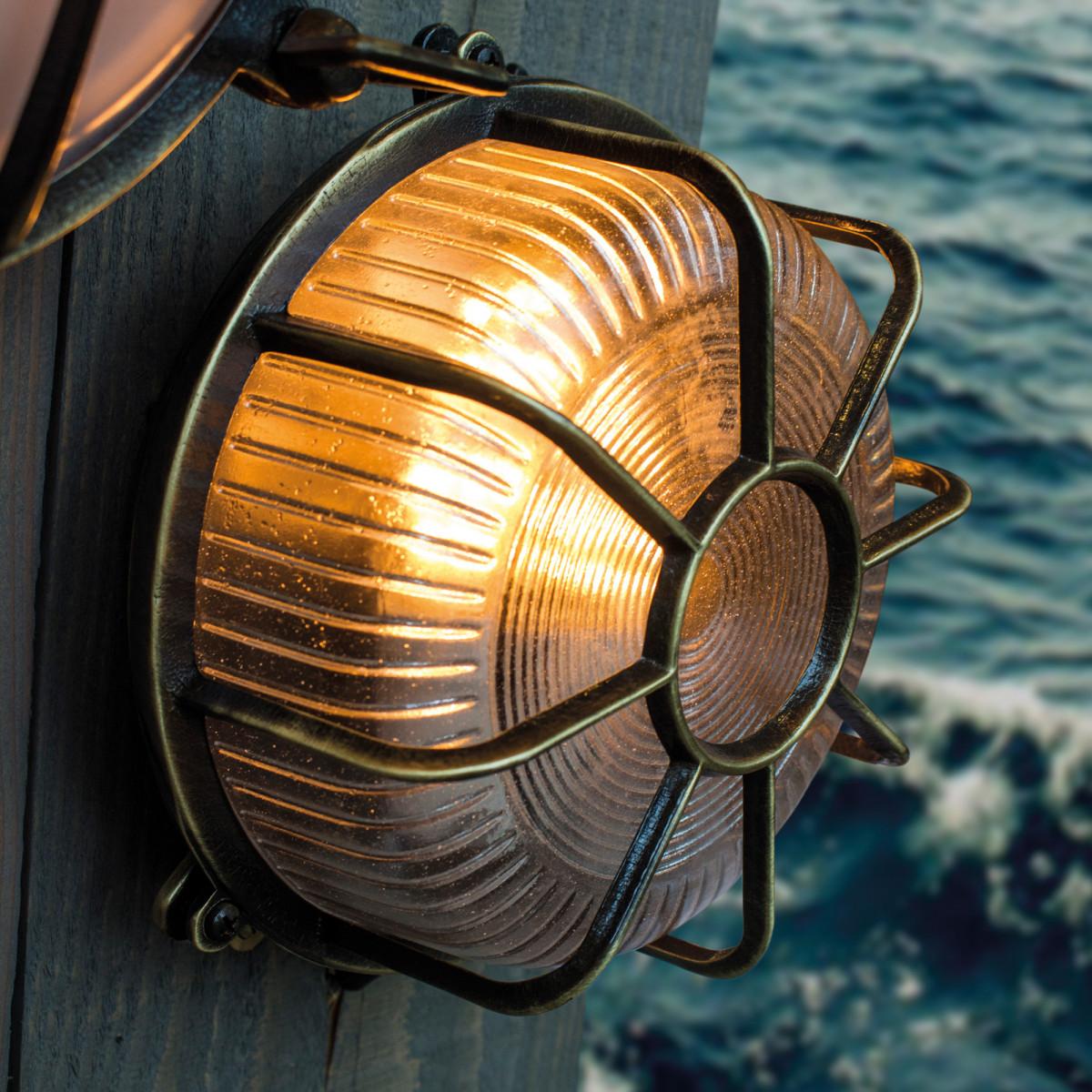 Schiffslampe Bering Bronze Außenleuchte