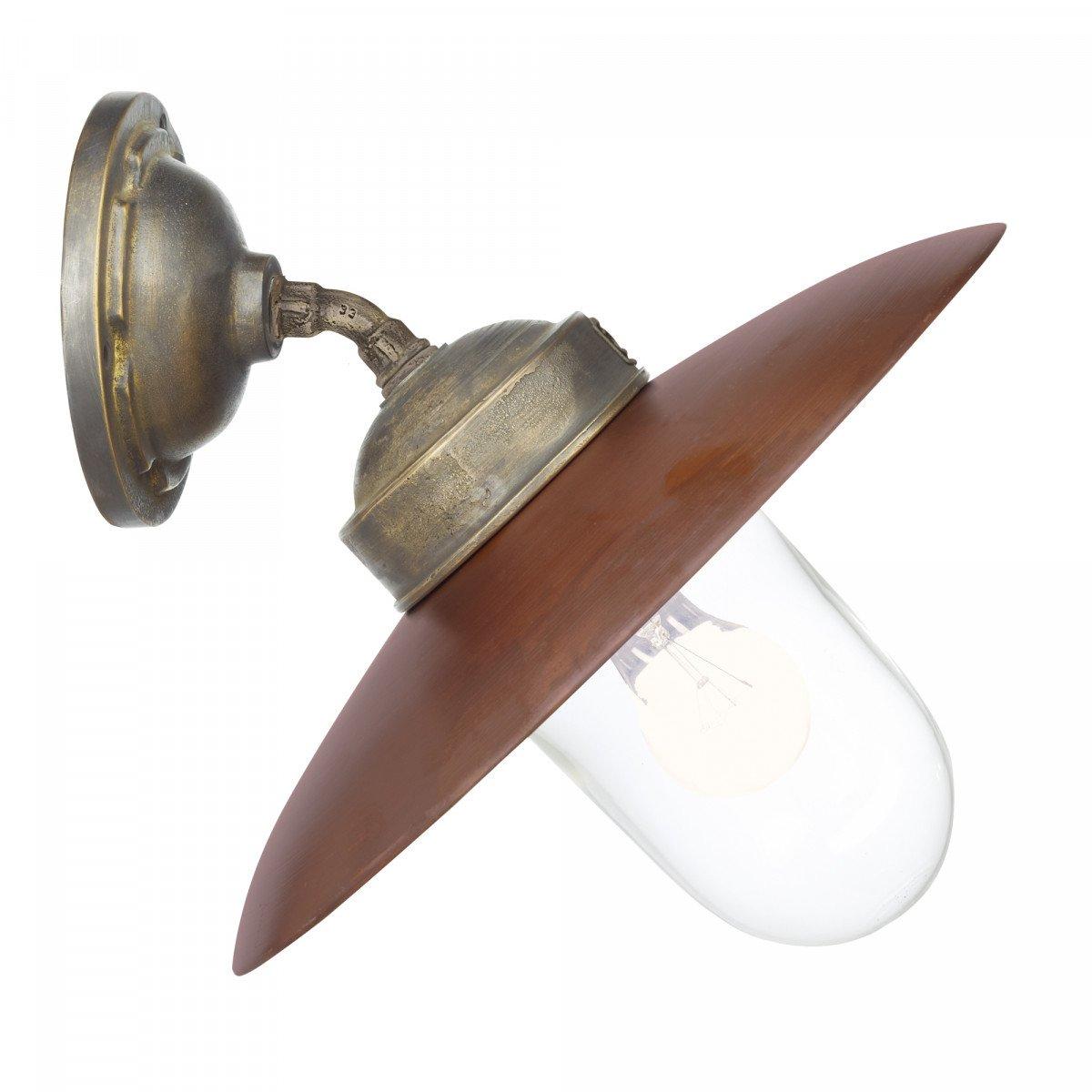 Hoflampe Landes - Wandleuchte aus Bronze und Kupfer