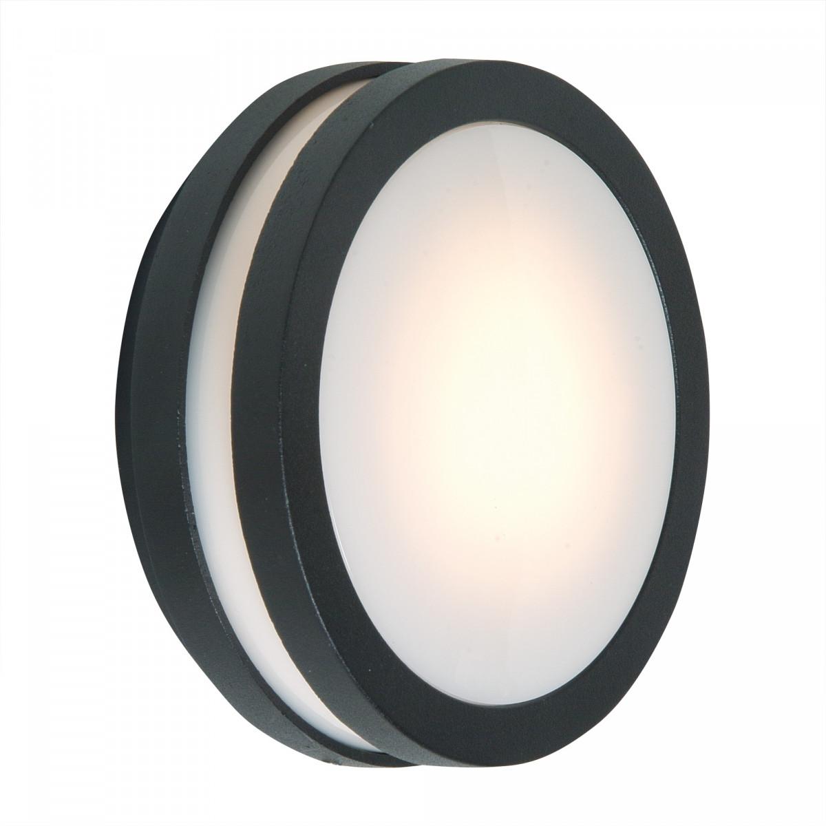 Moderne Wandlampe Wandleuchte Vision 2 Anthrazit Rund