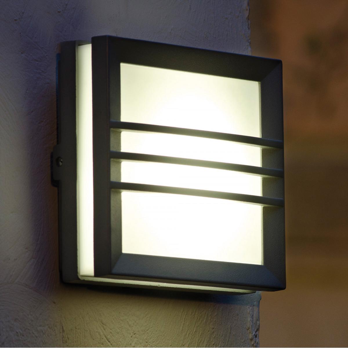 Moderne Wandlampe Wandleuchte Vision 5 Anthrazit Quadrat