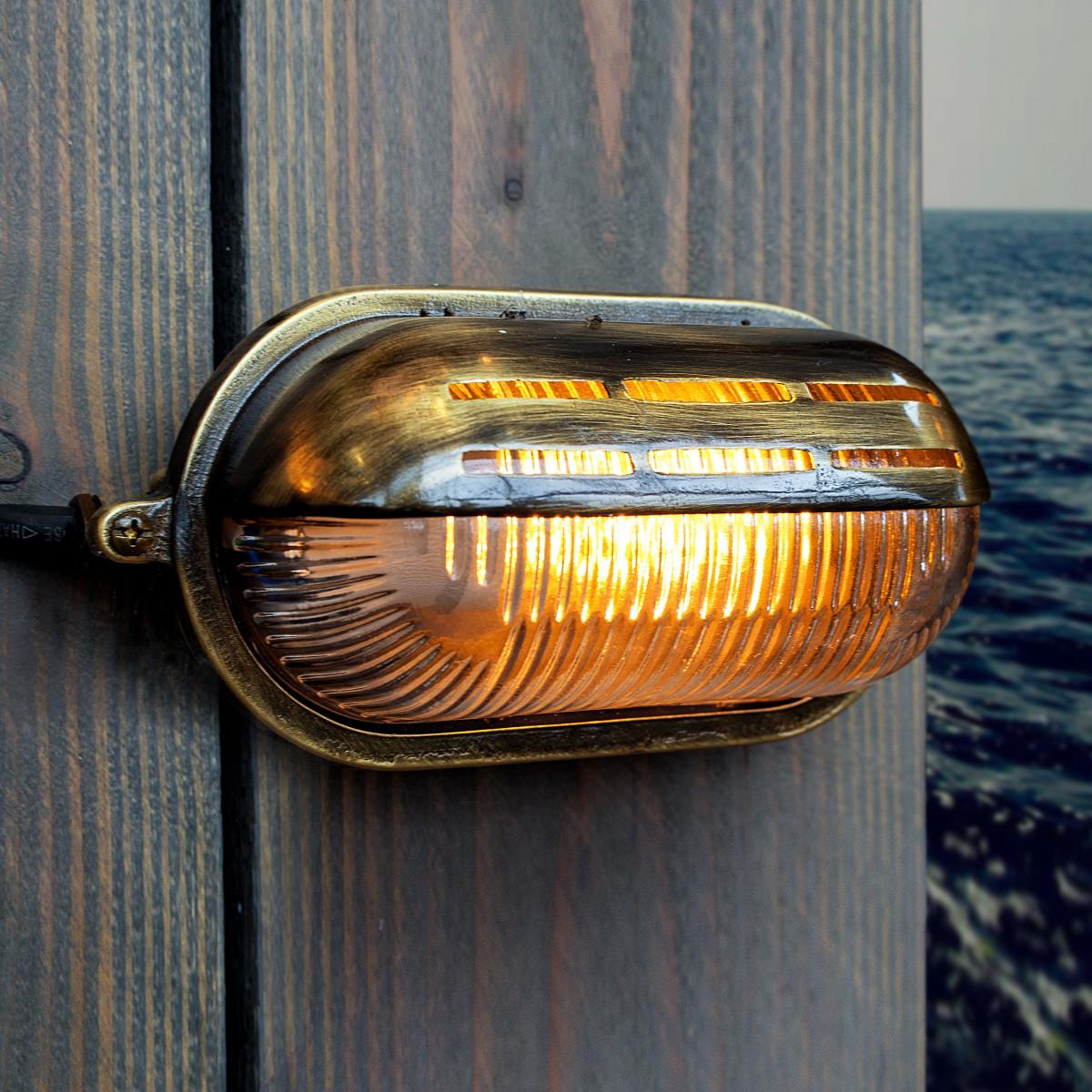 Gulf Schiffsleuchte - Wandleuchte Bronze