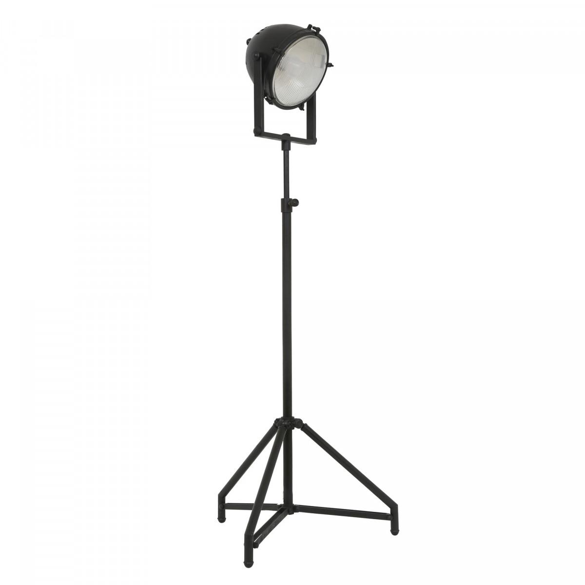 Retro Stehlampe Imola XXL Schwarz