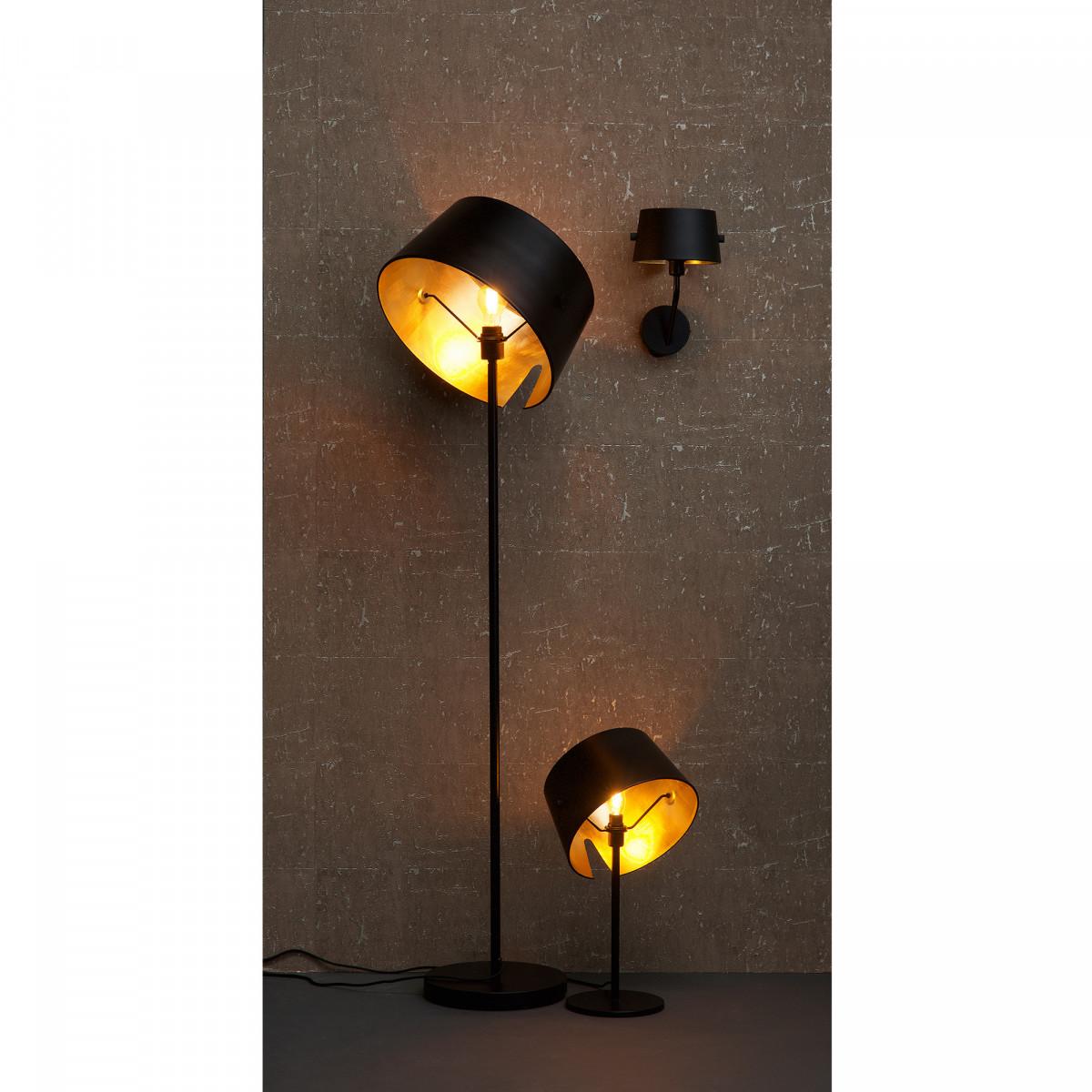 Moderne Tischlampe Pien Metall Schwarz