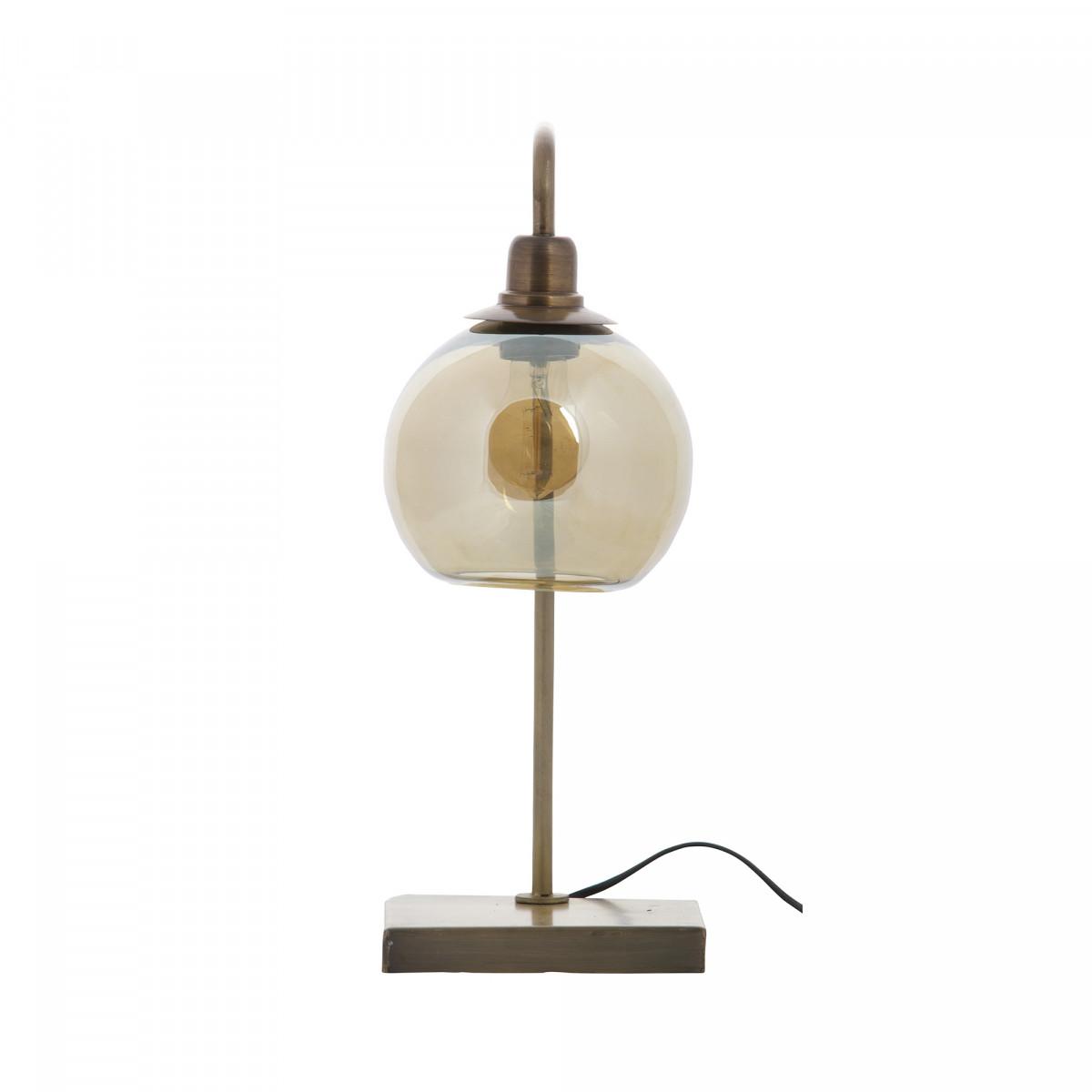 Tischlampe Lantern Antik-Messing