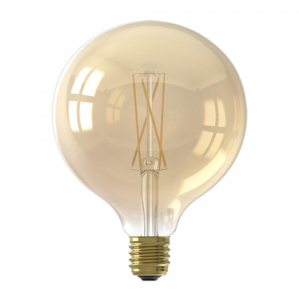 Große LED-Lichtquelle 6 Watt dimmbar gold