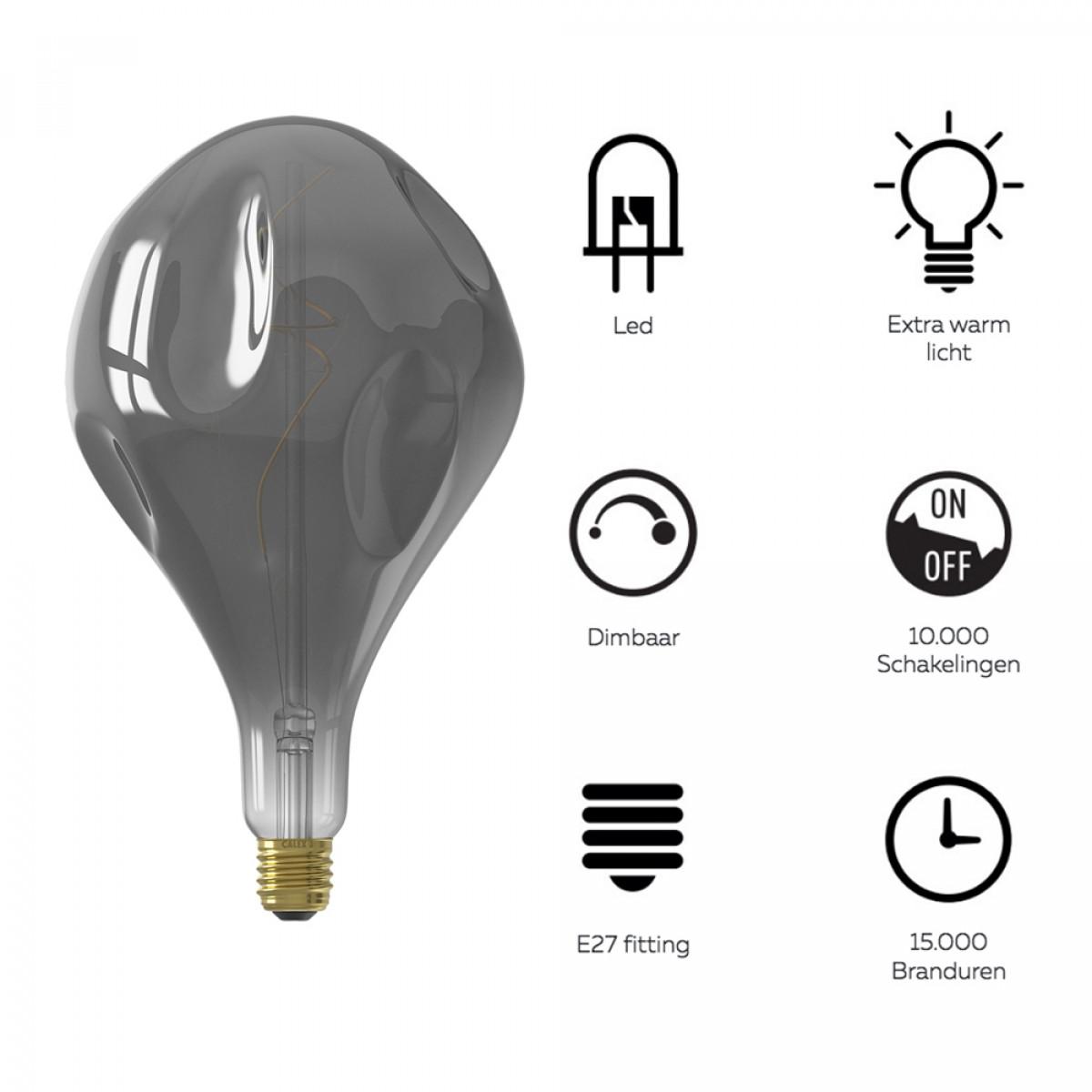 XXL Design LED Glühbirne Organic- Stilvolle und dimmbare Lampe