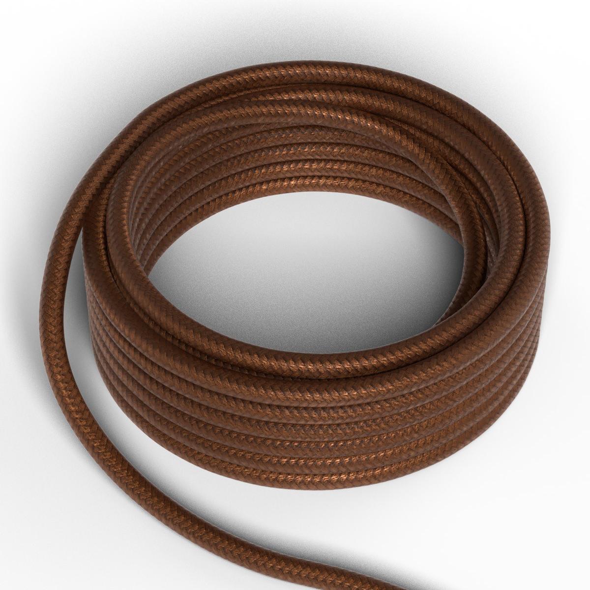 Textilkabel Metallic-Braun