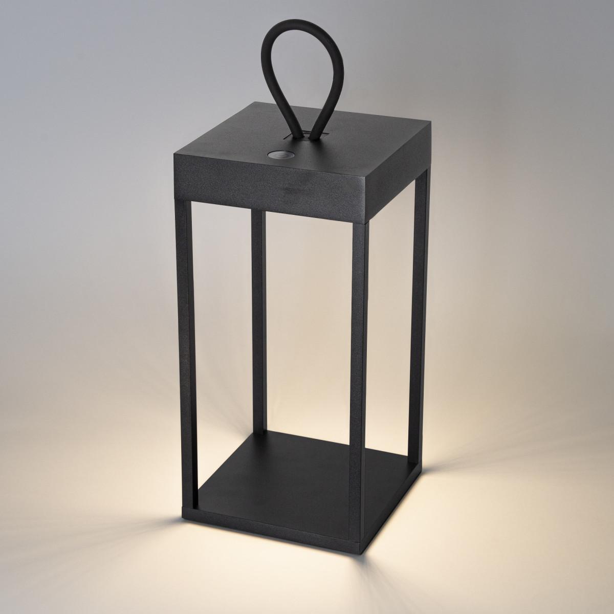 Carlo Touch Windlicht wiederaufladbar schwarz mit USB