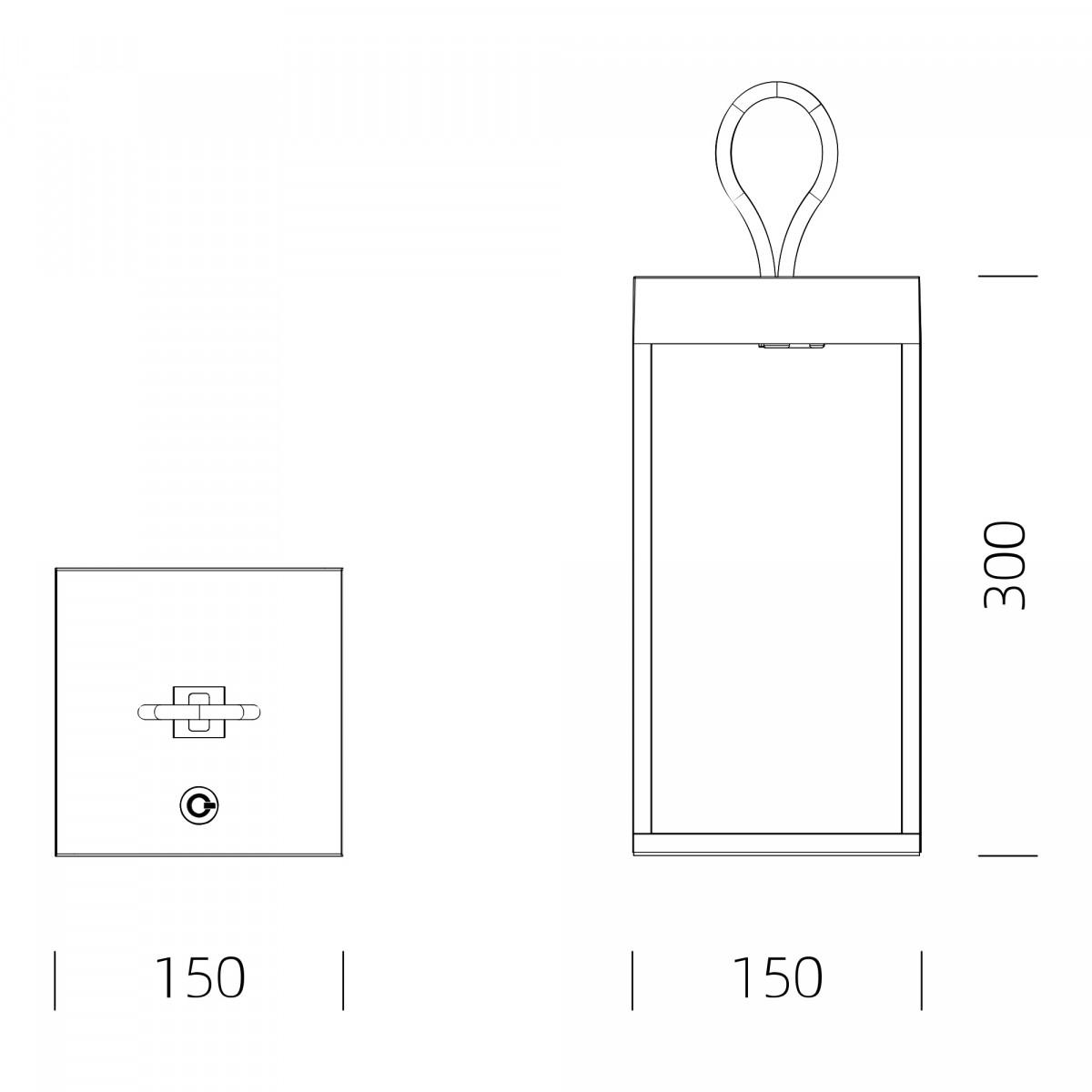 Carlo Touch wiederaufladbar Tischleuchte Braun mit USB