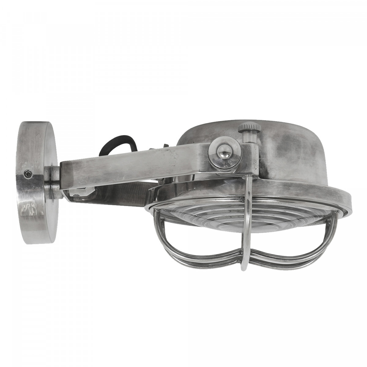 Retro Deckenstrahler Bixby Silber im Industrial Stil