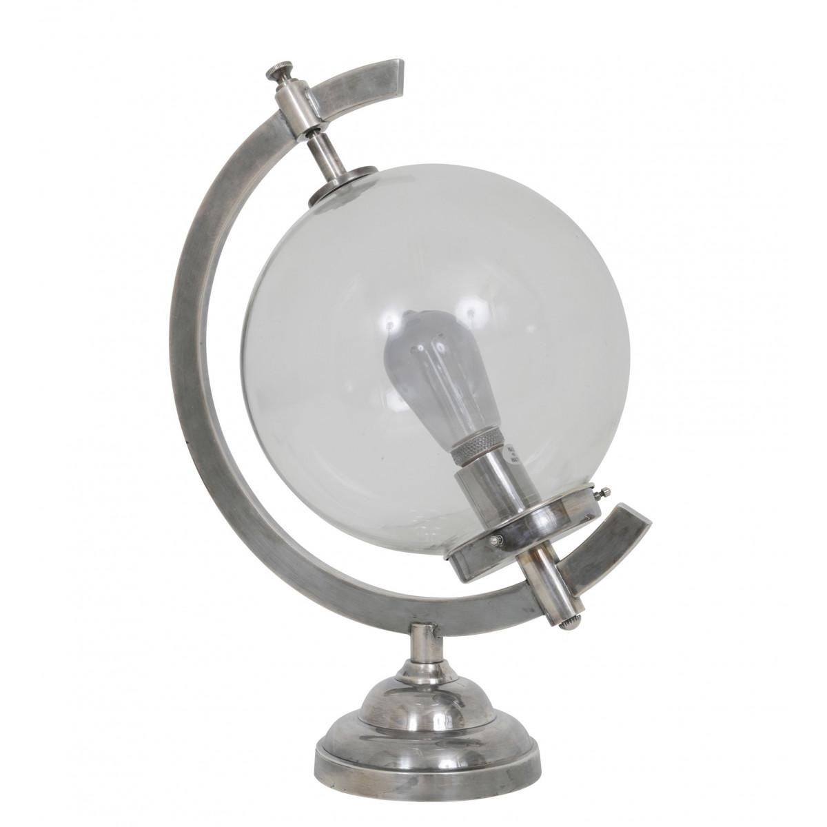 Bürolampe Globe Tischleuchte Silber