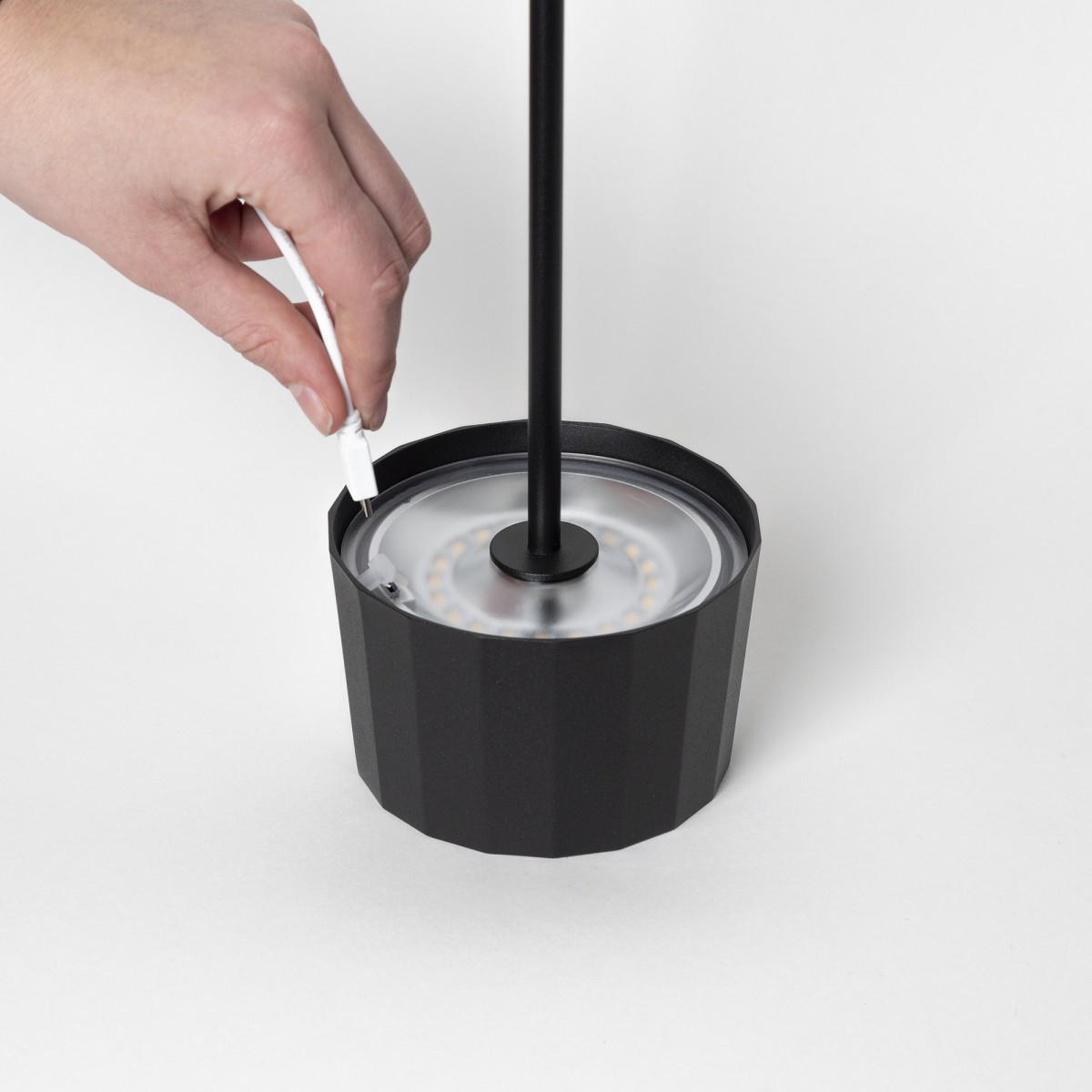 Tischleuchte Lido Touch Orange mit USB