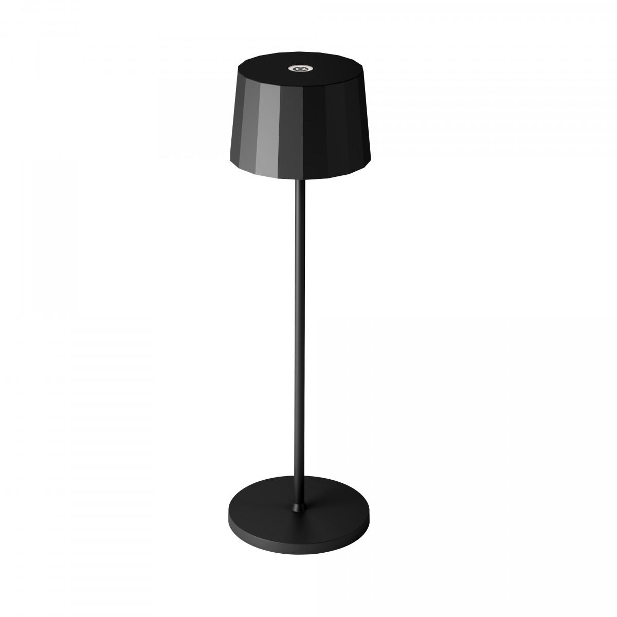 Tischleuchte Lido Touch Schwarz mit USB