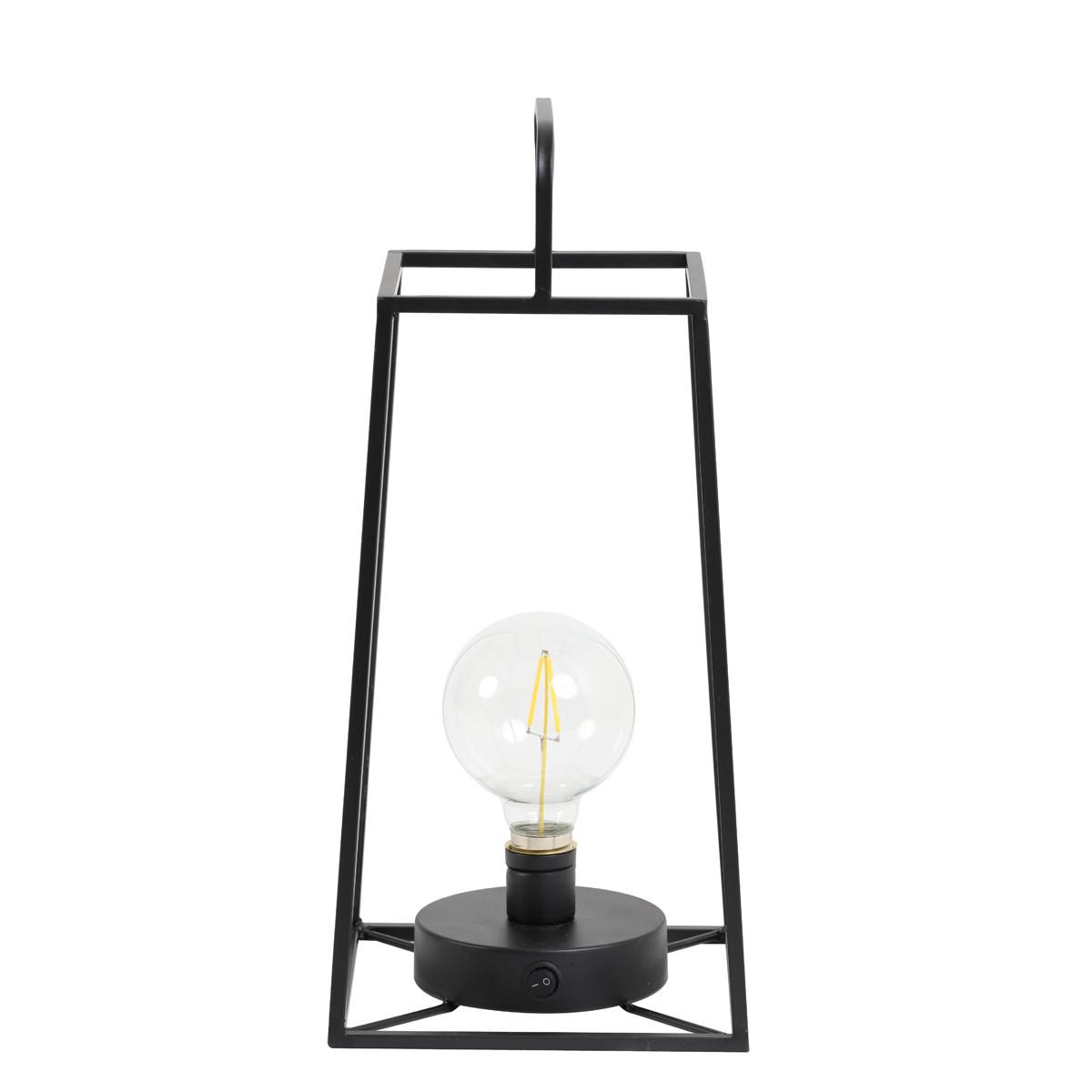 Tischleuchte Fauve matt schwarz mit LED