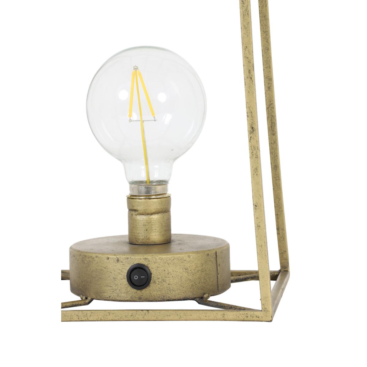 Tischlampe Fauve Antik Bronze mit LED