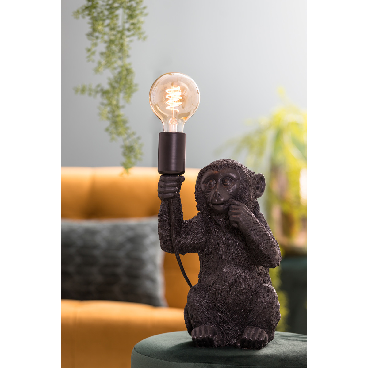 Tischleuchte Monkey schwarz