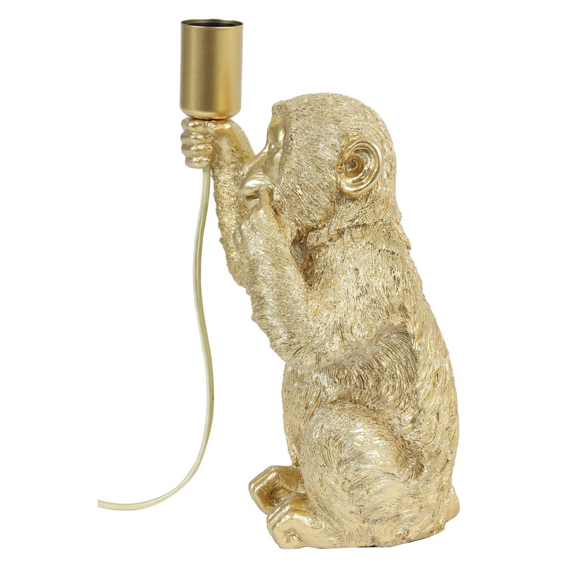 Monkey Tischlampe Gold