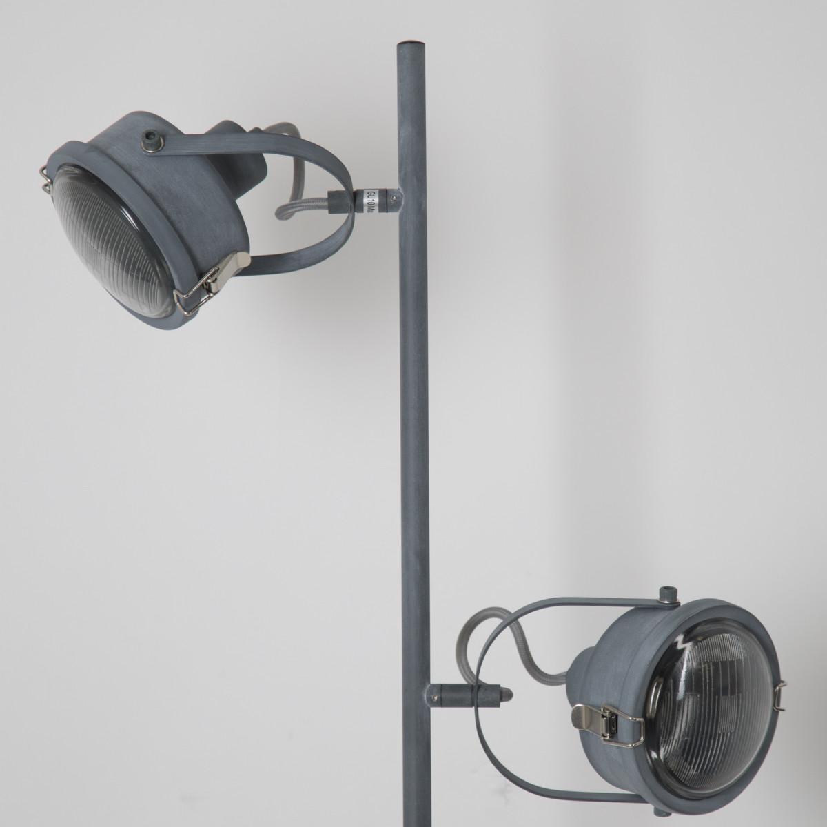 Satellite stehlampe grau
