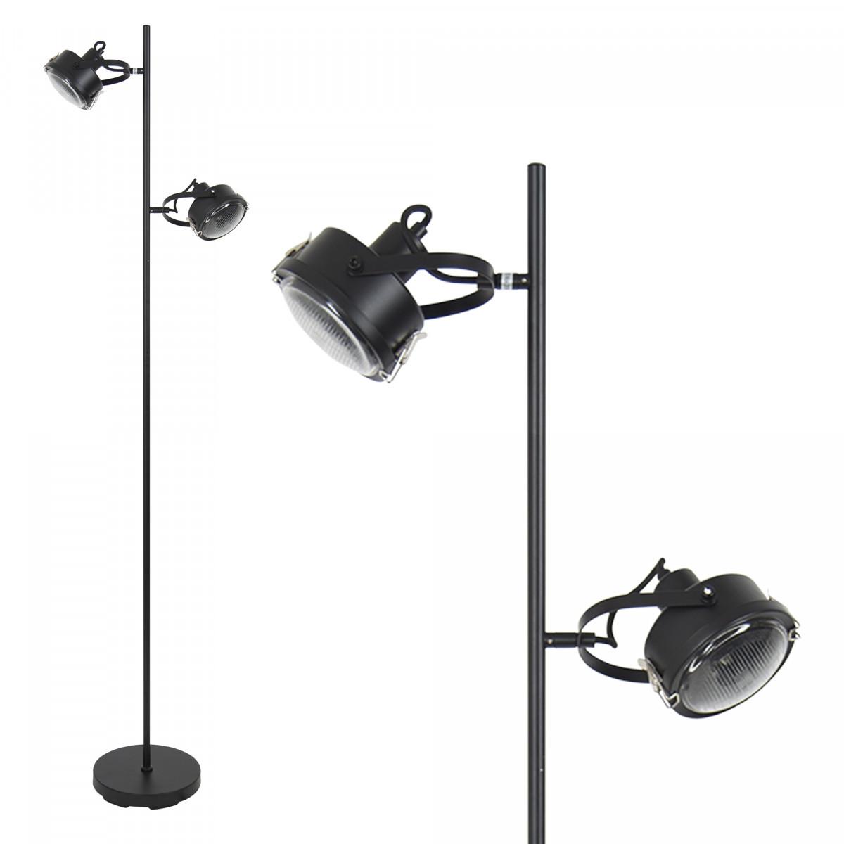Satellite stehlampe schwarz - Nostalux Wohnraumleuchten