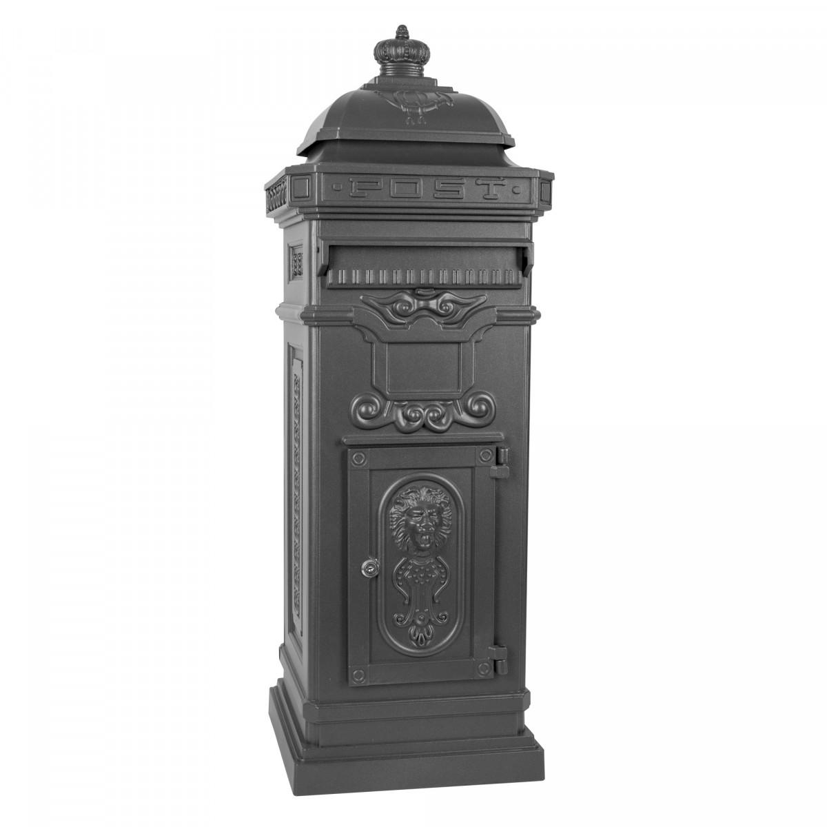 Klassischer Säulenbriefkasten XL Anthrazit