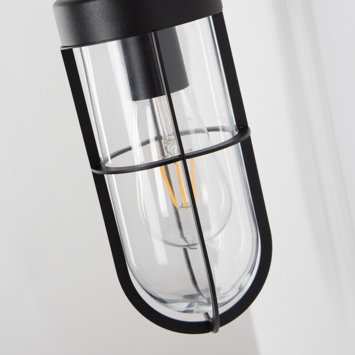 Wandlampe Porto Schwarz