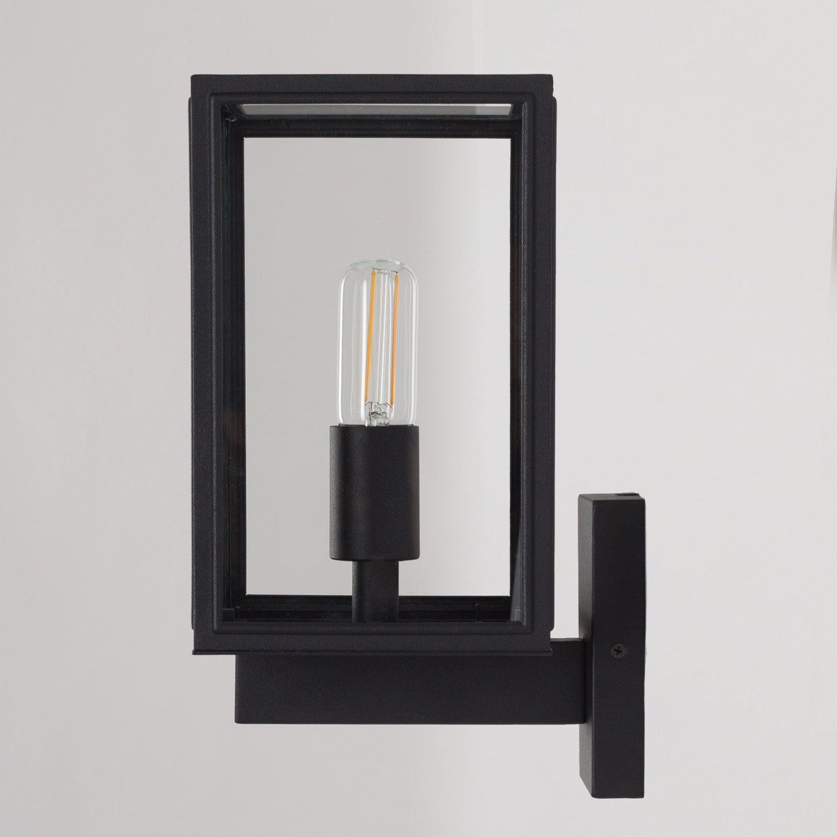 Außenwandleuchte Soho stehend - Edelstahl Schwarz - 7530D4 - Wandlampe