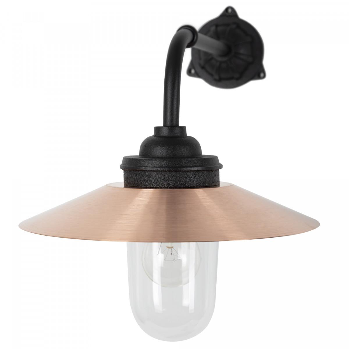Provence Hofleuchte Schwarz & Kupfer Außenwandlampe