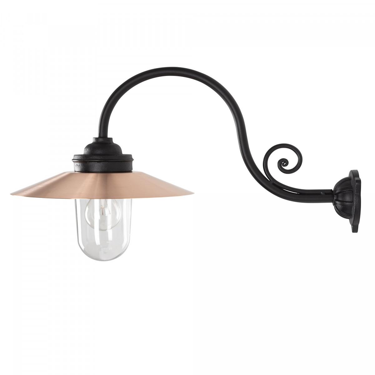 Hoflampe Rhone Schwarz & Kupfer