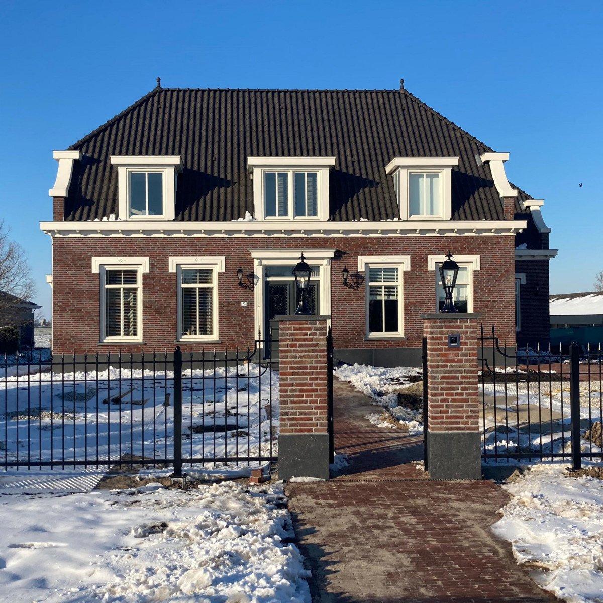 Alte holländische klassische Terrassenlaterne. Sockelleuchte Blackpool