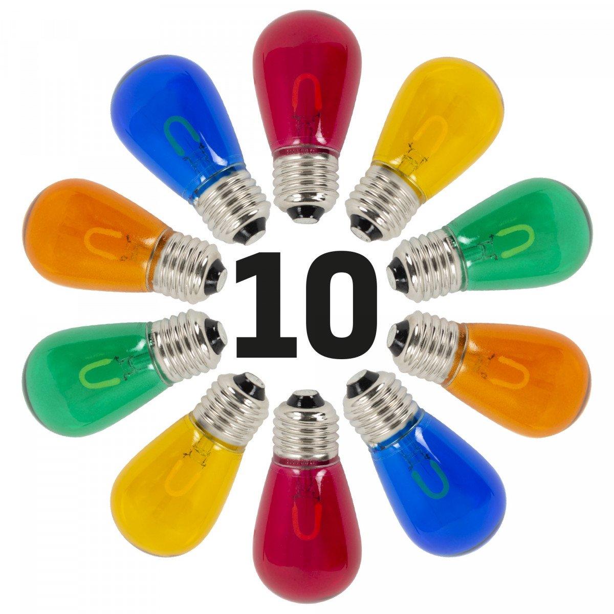 10x Set - Lichterketten LED-Lampen Bunt für Innen und Außen