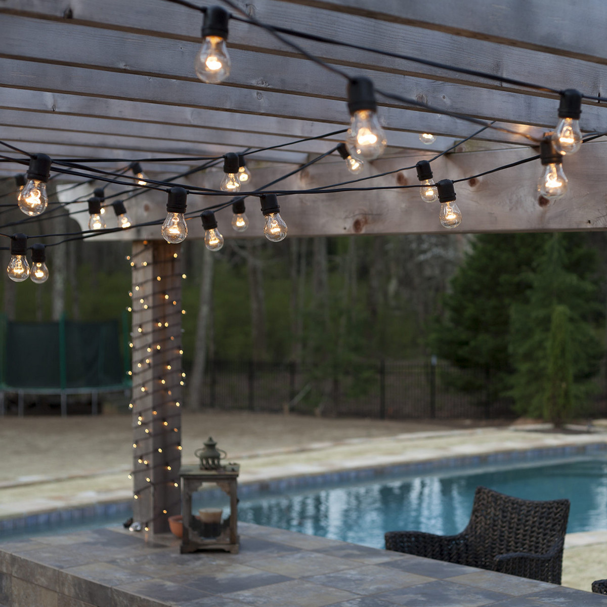 Partybeleuchtung LED Patio 30 transparent - 30 Meter / 36 Leuchten