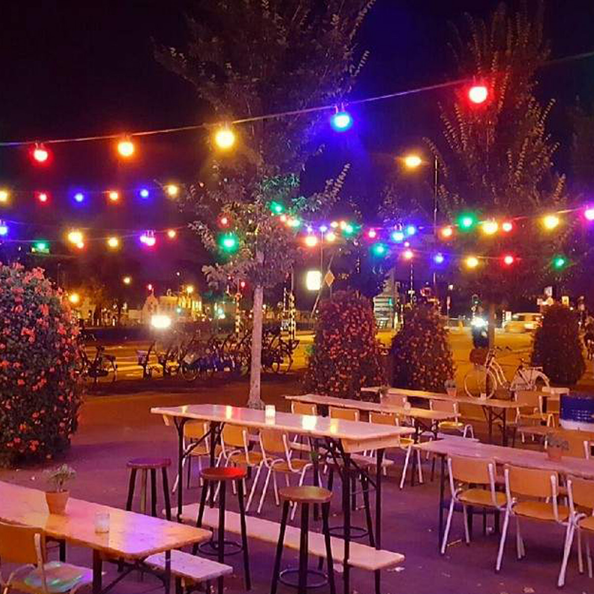Partybeleuchtung LED Patio 30 Farben - 30 Meter / 36 Leuchten