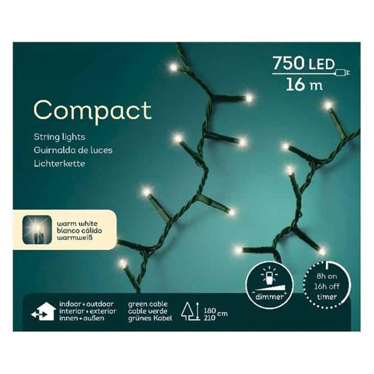 Kompakte Lichterkette16 Meter 750 LED