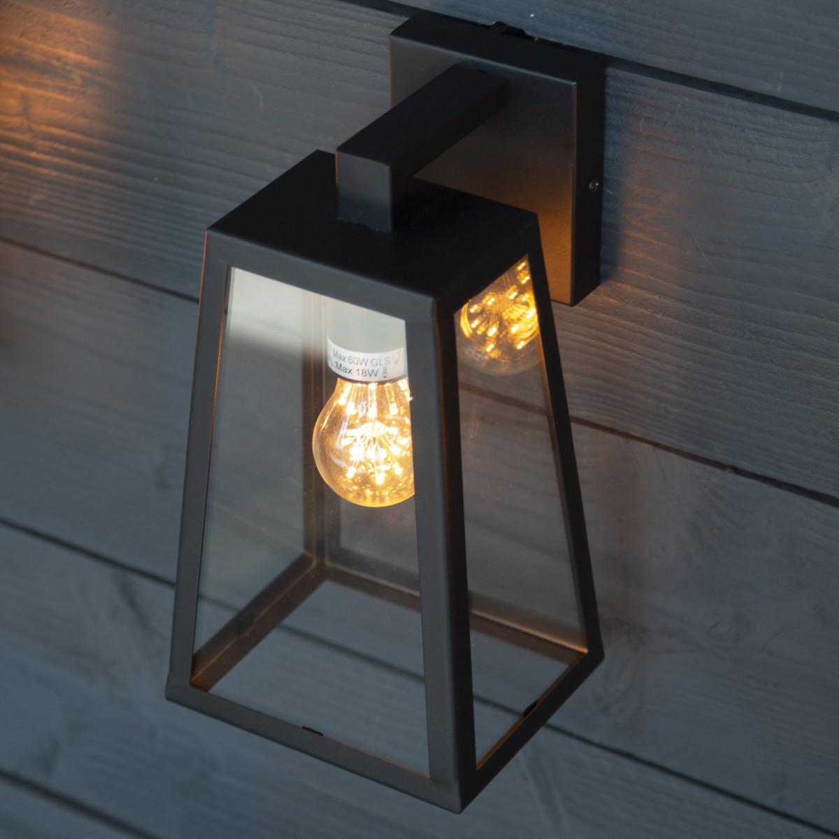 KS Luuk Wandleuchte für den Außenbereich, schlankes Design, Schwarz, eleganten Leuchten