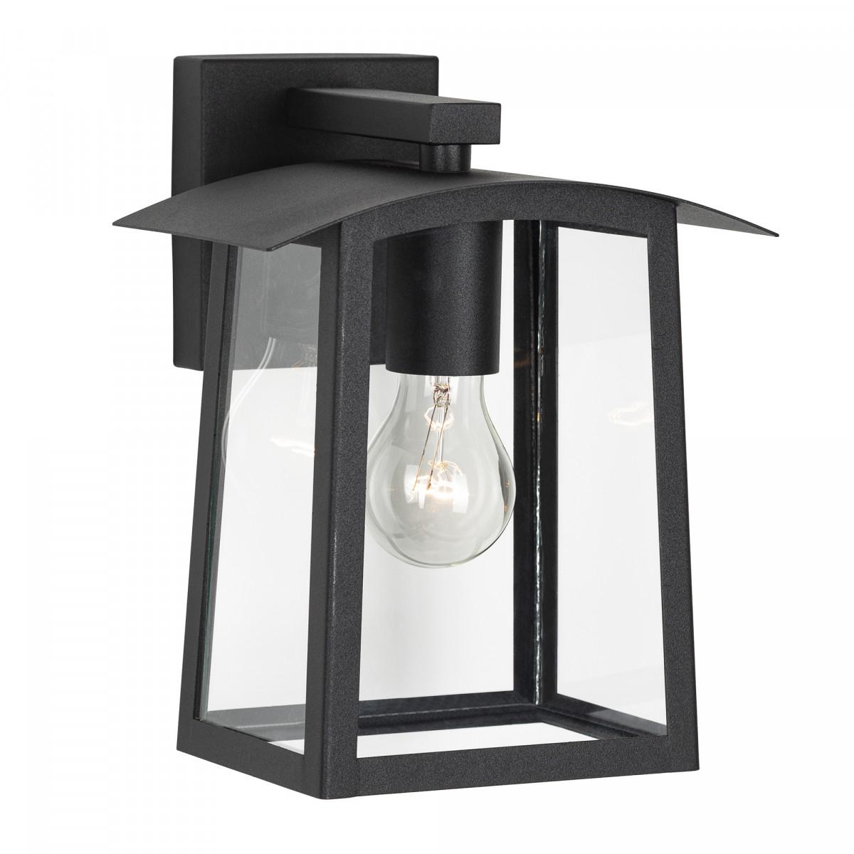 KS Außenwandleuchte Motto Schwarz, schöne eleganten Leuchten die an der Wand montiert wird
