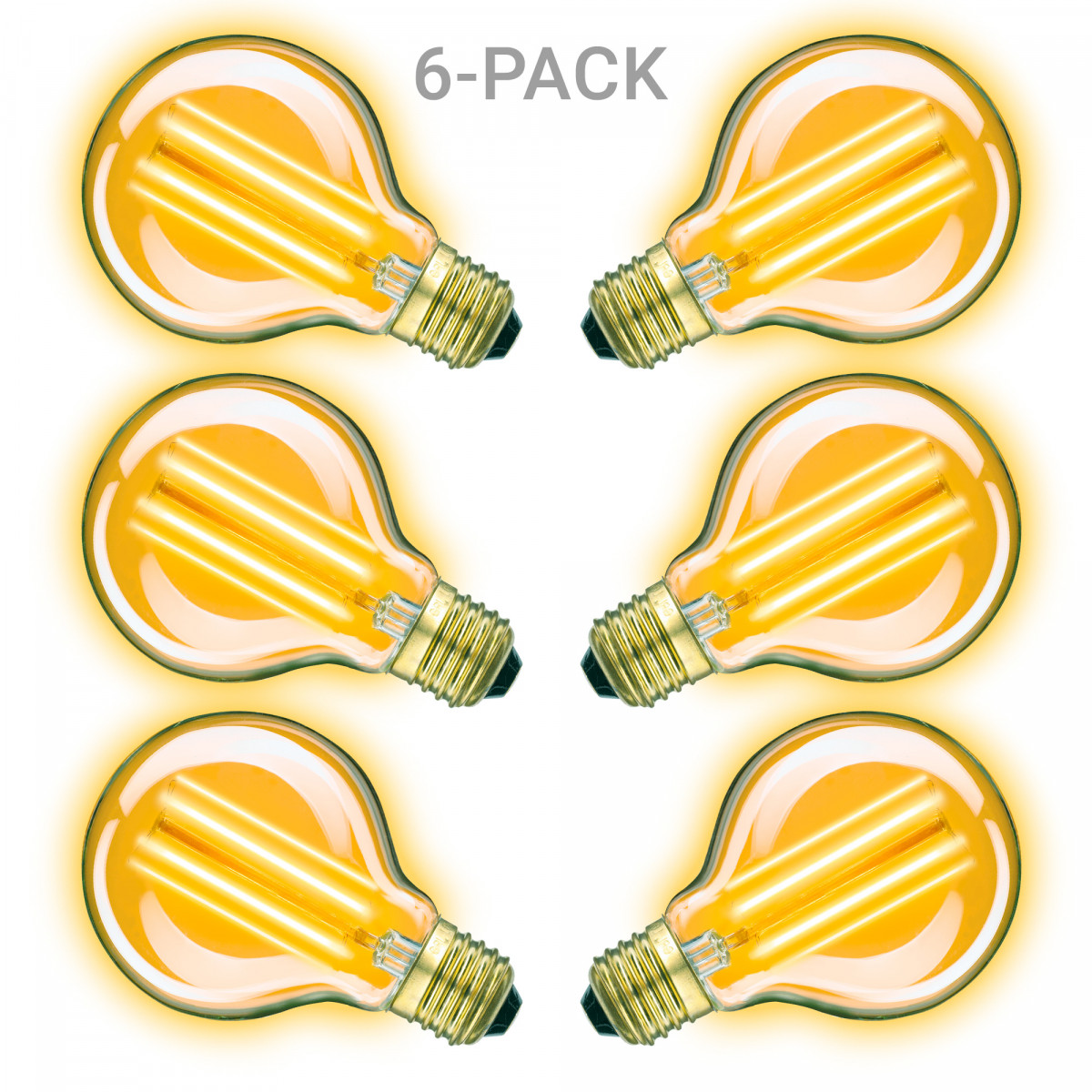 Classic Gold Globe LED 6er-Pack