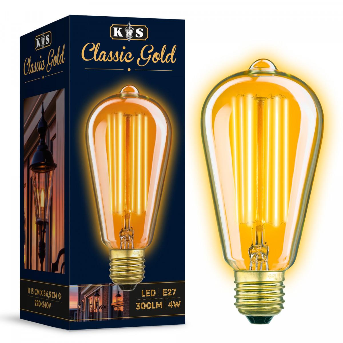Edison LED Leuchtmittel in Kohlefadenoptik
