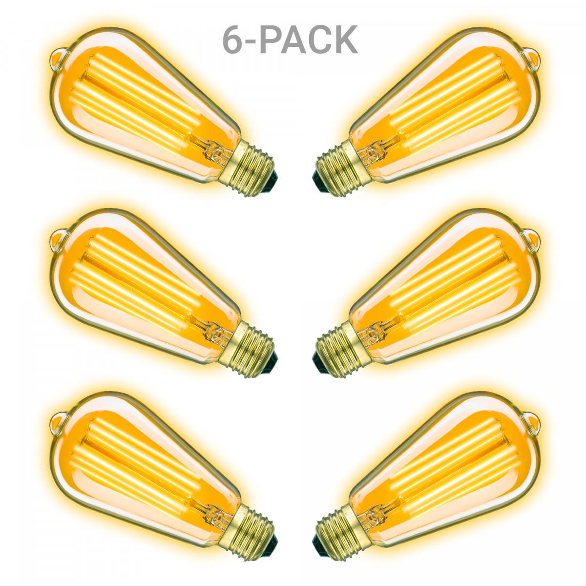 Edison LED Leuchtmittel 6er-Pack