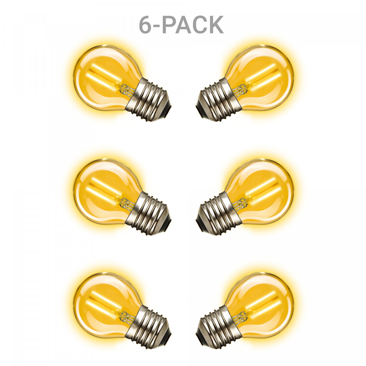 Mini Gold LED Leuchtmittel 6er-Pack