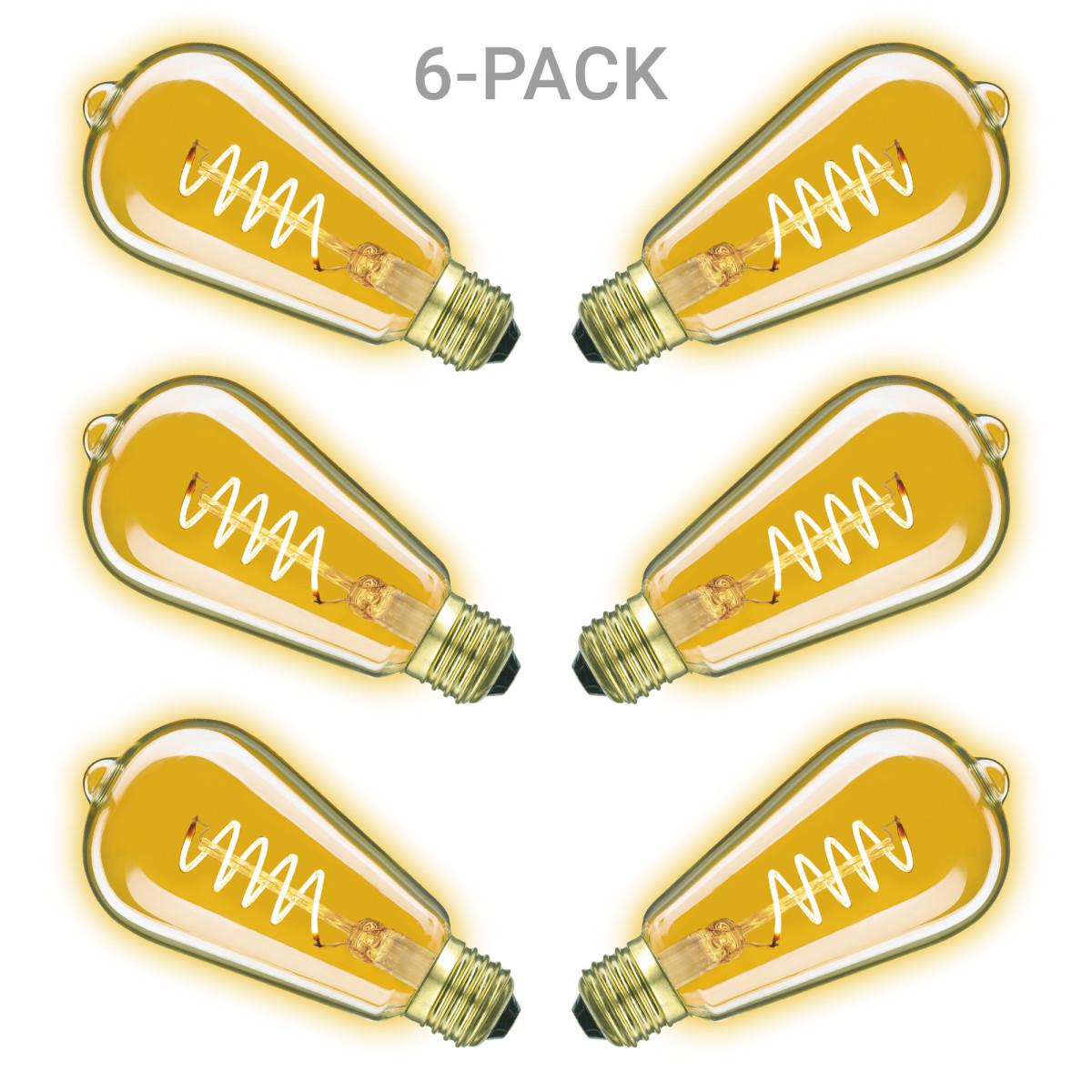 LED Rustic Spiral 6er-Pack